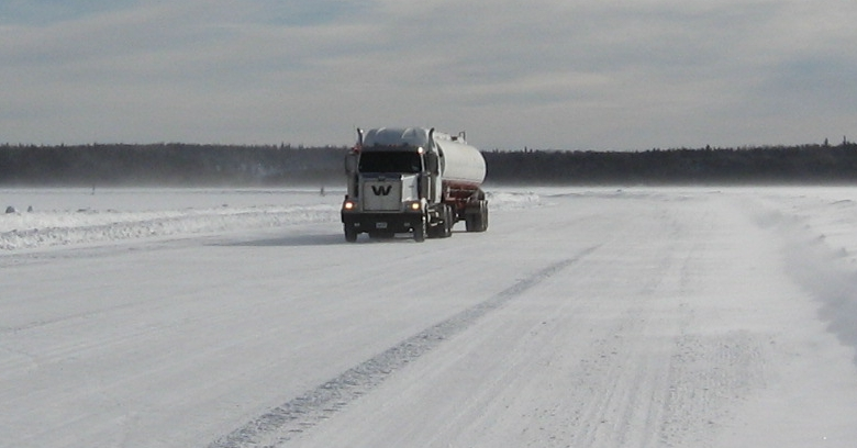 Winter road, near Sandy Lake First Nation